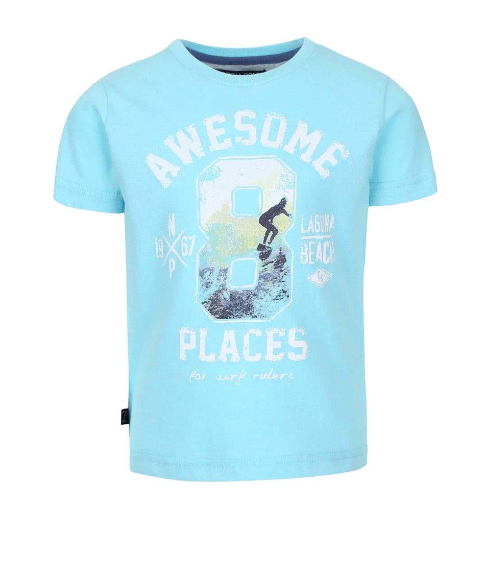 Světle modré klučičí triko s potiskem North Pole Kids