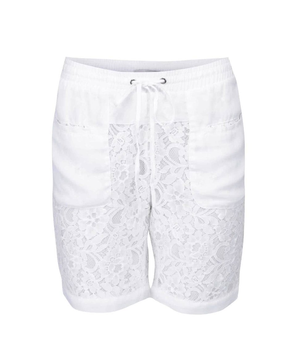 Bílé krajkované kraťasy ICHI Aliyah