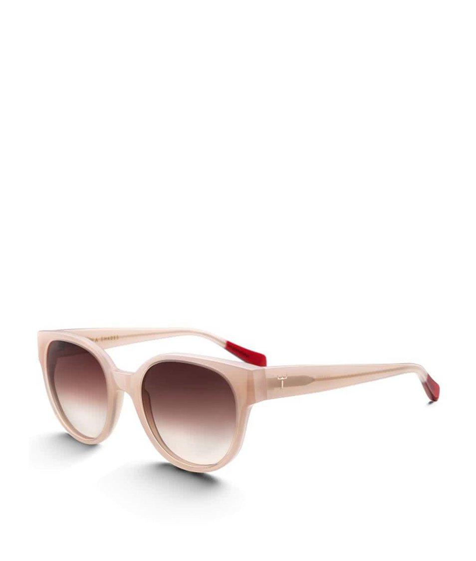 Světle růžové dámské acetátové sluneční brýle TRIWA Peach Thelma