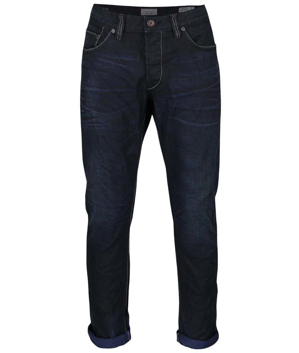 Tmavě modré žíhané regular džíny ONLY & SONS Weft