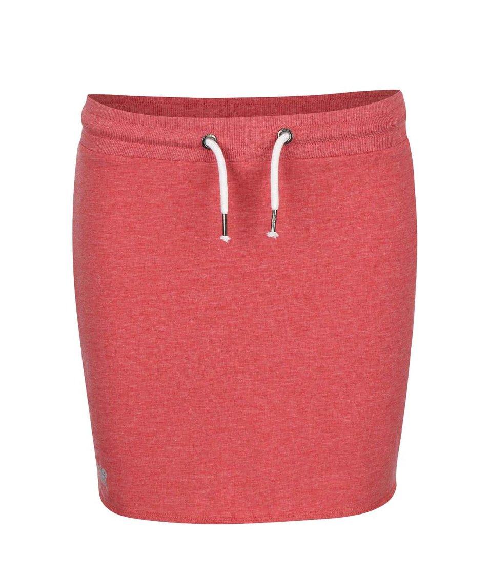 Cihlově červená tepláková sukně ONLY New Nilla