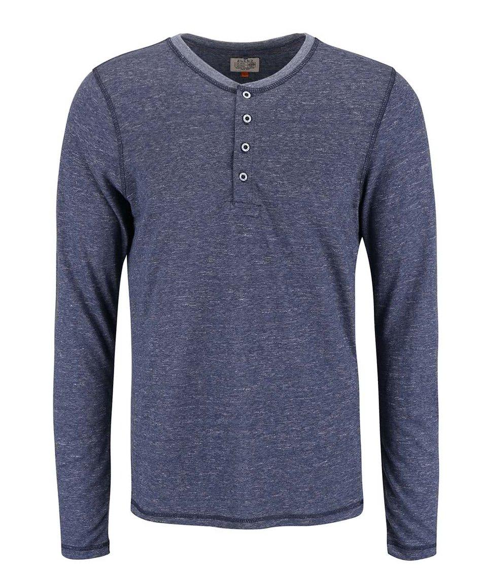 Modré žíhané triko s dlouhým rukávem Blend