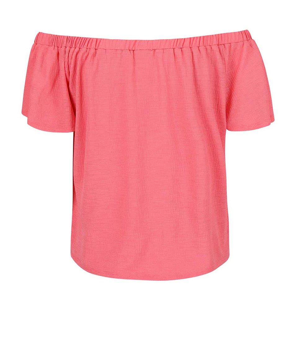 Růžový top se spadlými rameny Dorothy Perkins Petite
