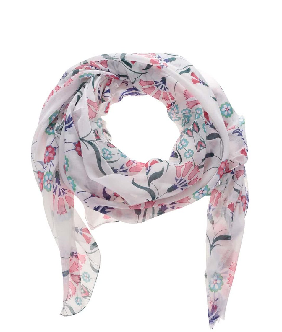 Krémový květovaný šátek Vero Moda Naia