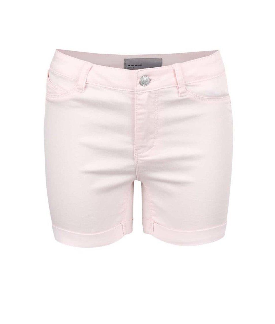 Světle růžové kraťasy Vero Moda Flex-It