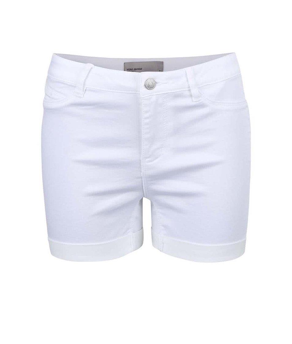 Bílé kraťasy Vero Moda Flex-It