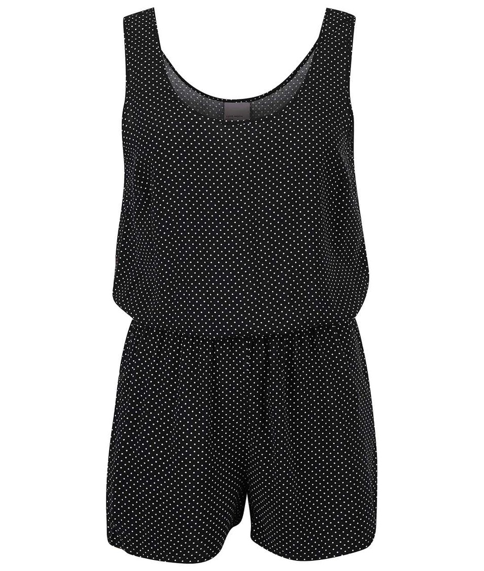 Černý overal s bílými puntíky Vero Moda Super