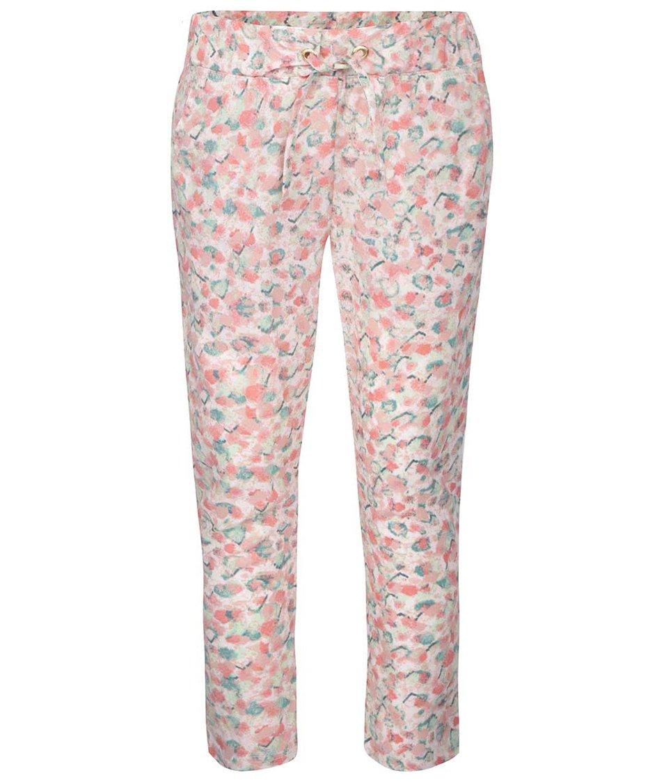 Růžové holčičí vzorované kalhoty name it Tiluna
