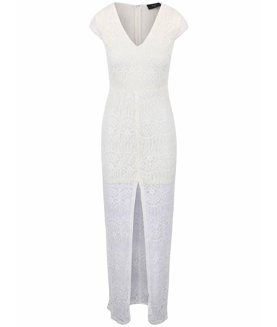 Krémové krajkované šaty AX Paris