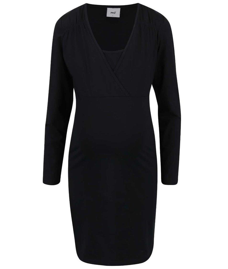 Černé těhotenské šaty Mama.licious Sofia Tess