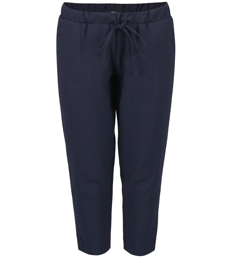Tmavě modré osminkové kalhoty Alchymi Zircon
