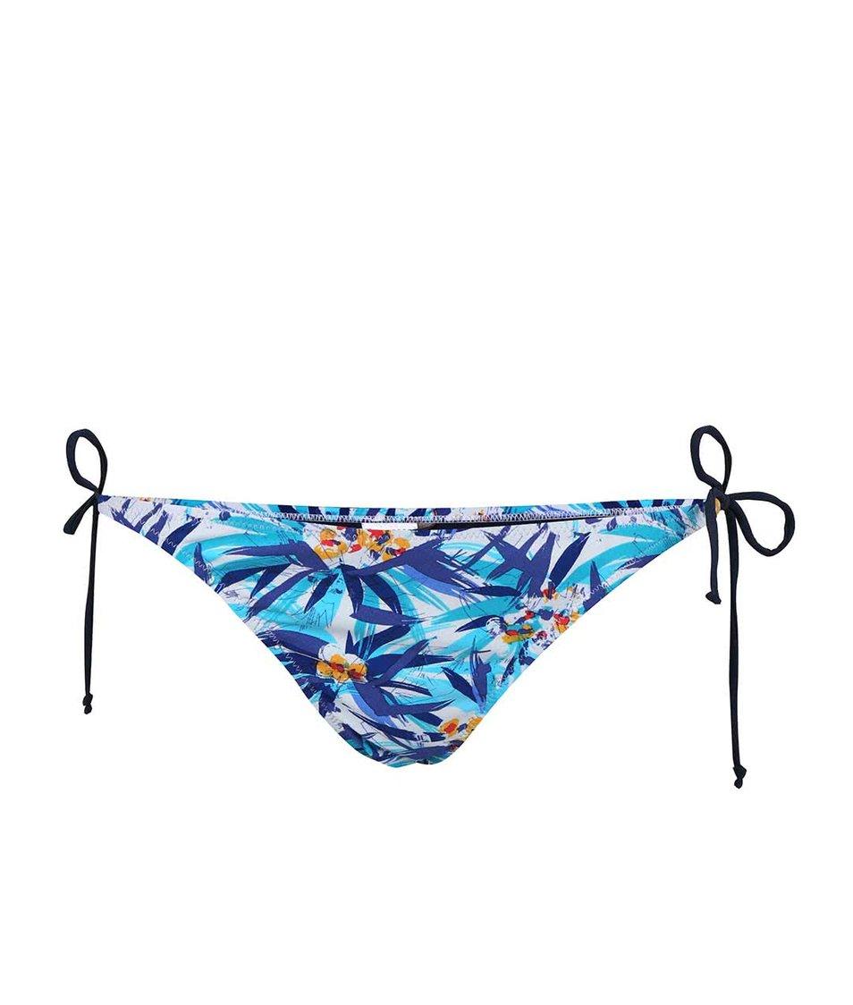 Modrý spodní díl plavek se vzorem Vero Moda Palm flower