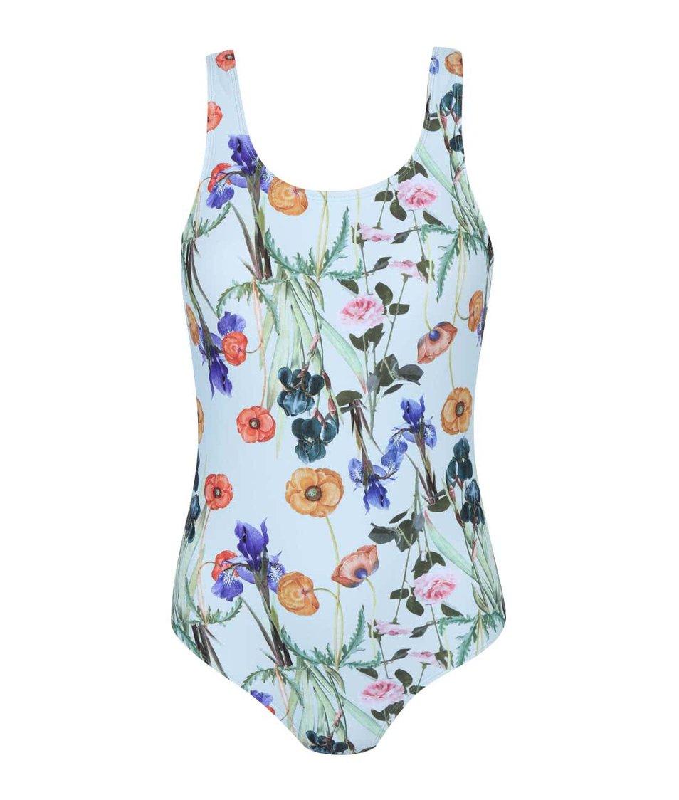 Světle modré jednodílné plavky Vero Moda Flora