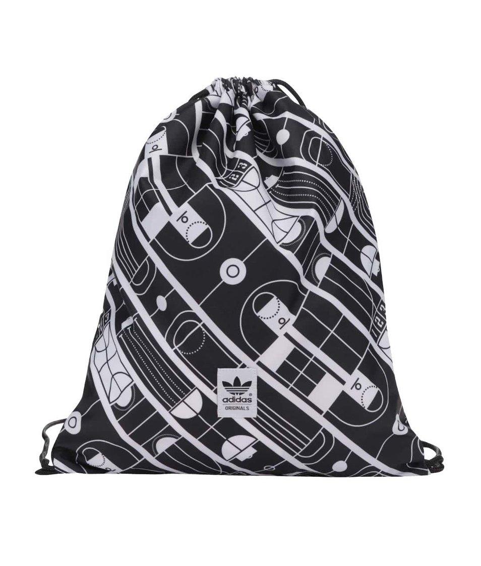 37e4277d87f6 Bílo-černý vzorovaný vak adidas Originals Track