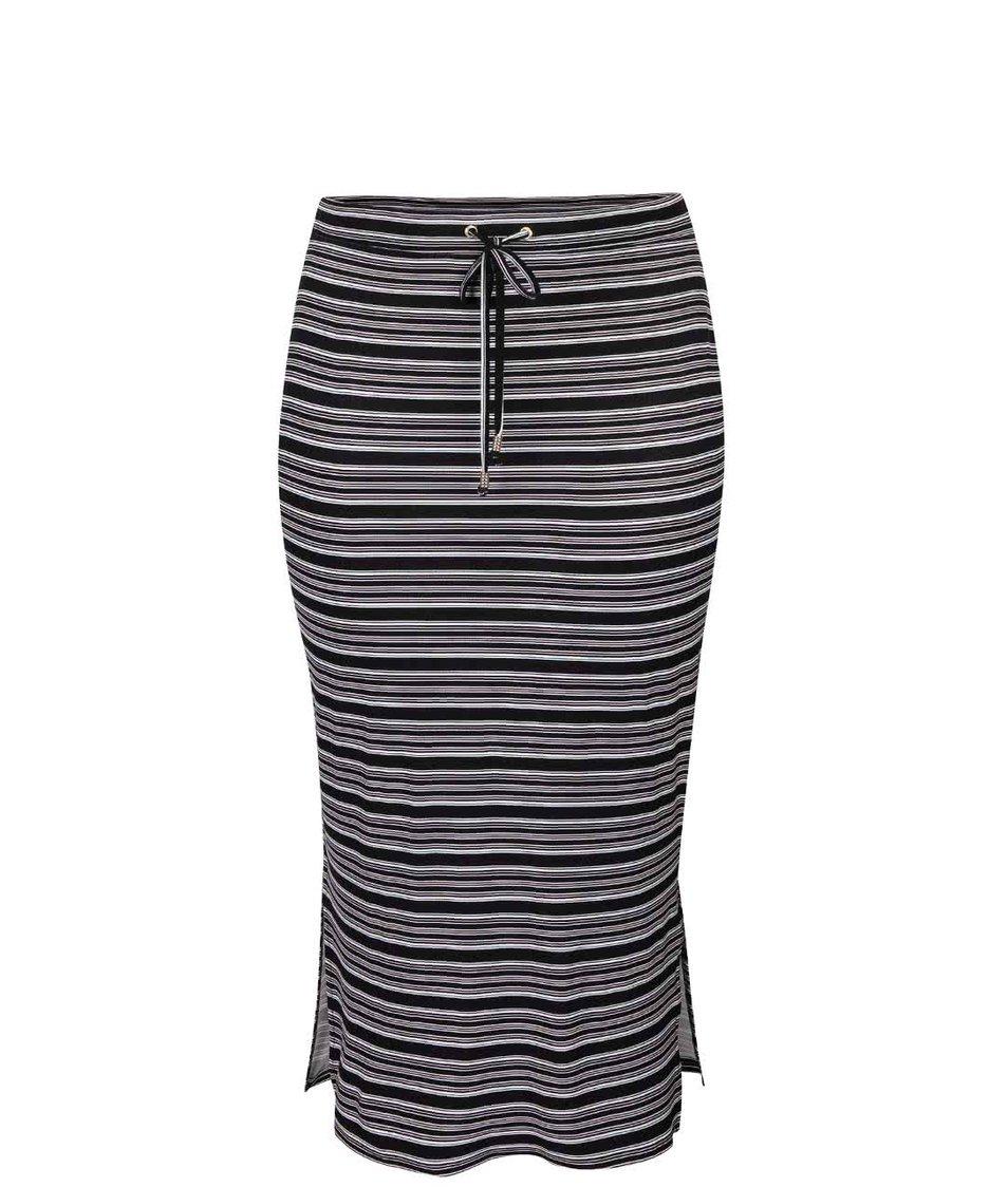 Černá pruhovaná delší sukně Dorothy Perkins Curve
