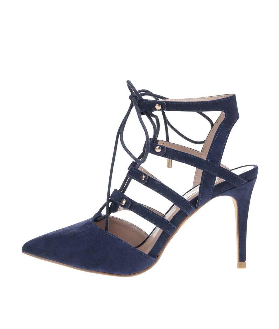 Tmavě modré sandály v semišové úpravě Dorothy Perkins
