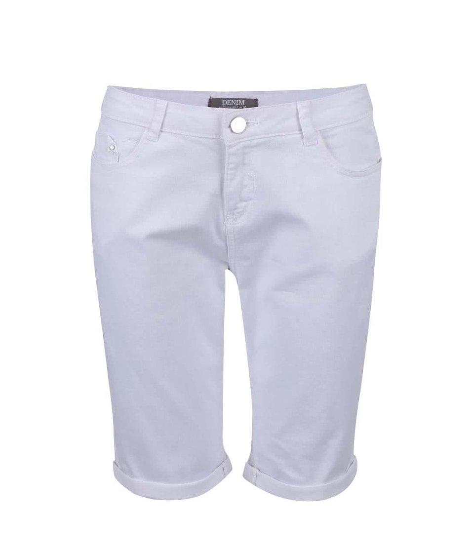 Bílé džínové kraťasy nad kolena Dorothy Perkins