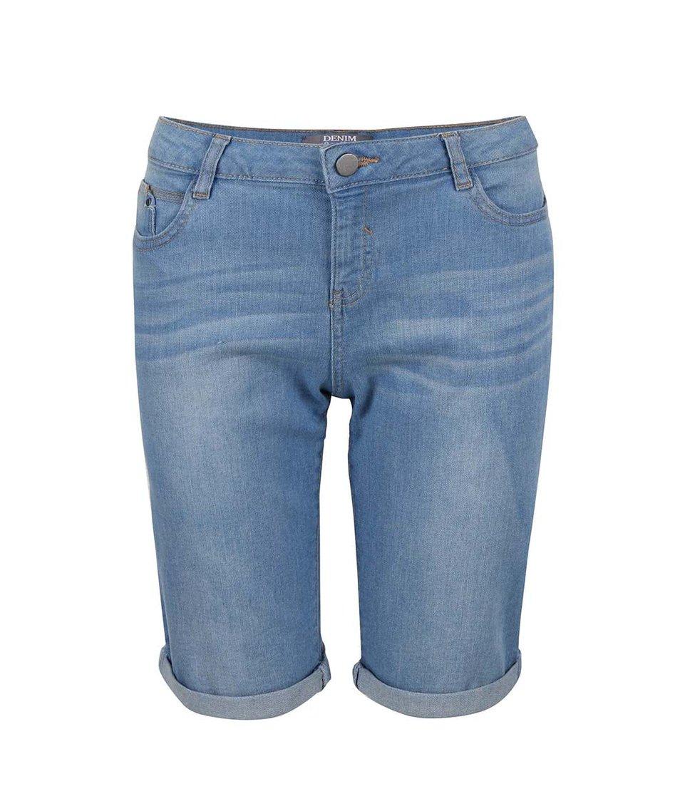 Světle modré džínové kraťasy nad kolena Dorothy Perkins