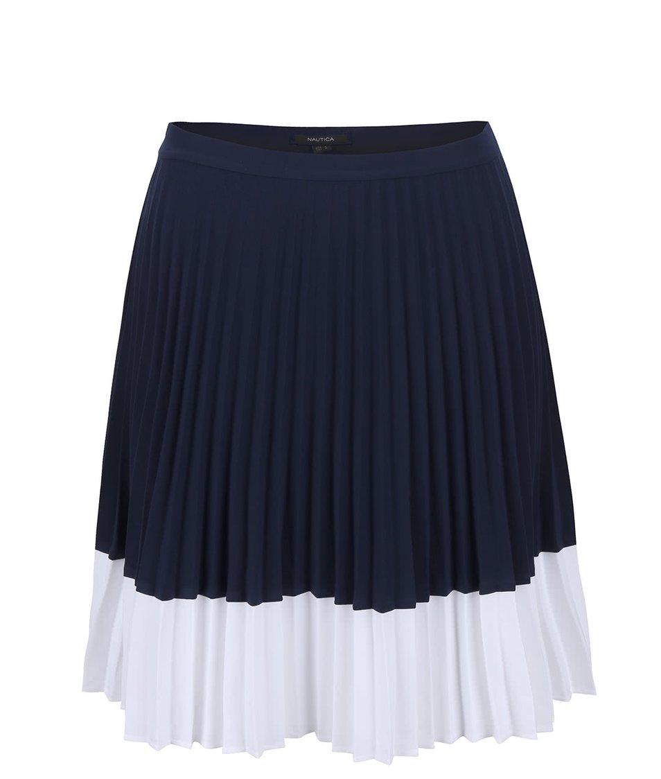 Bílo-modrá plisovaná sukně Nautica