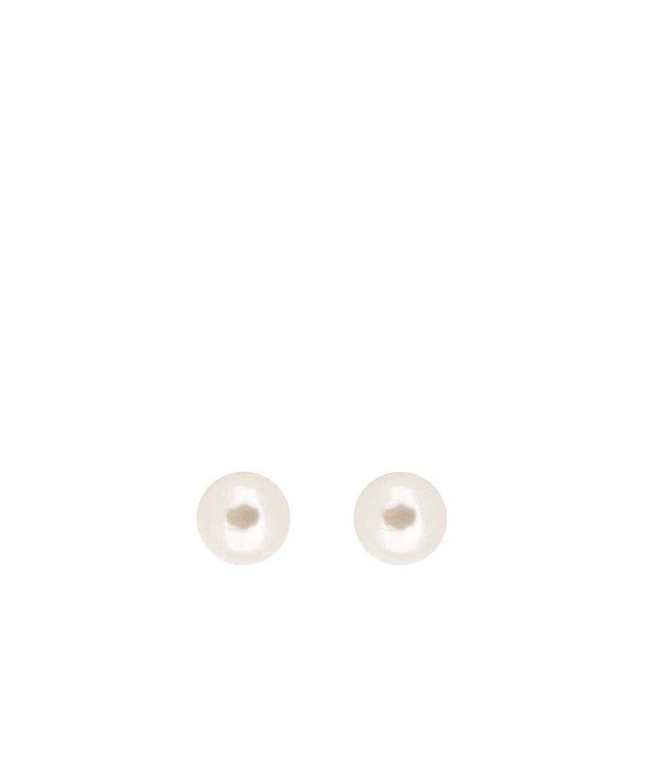 Bílé náušnice Pieces Chogan