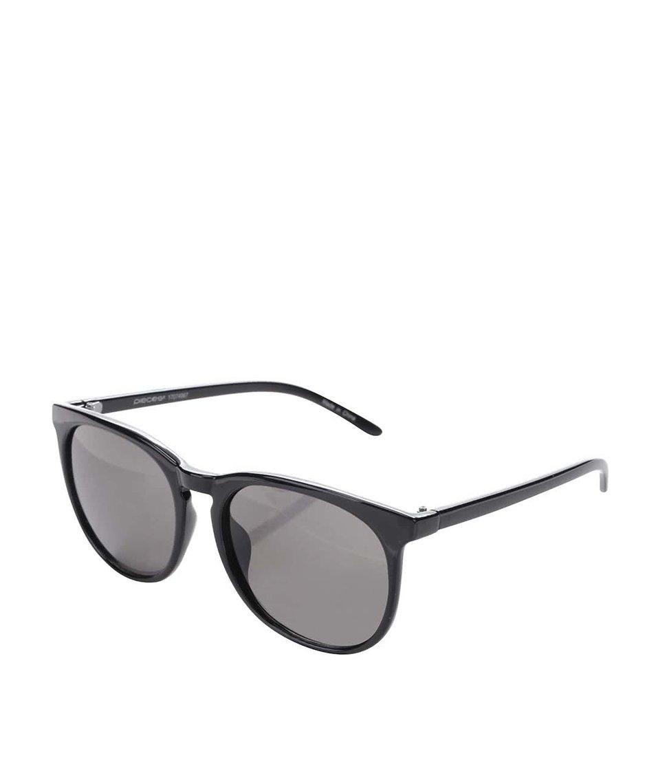 Černé sluneční brýle Pieces Banana