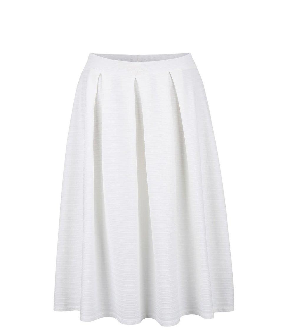 Krémová vzorovaná midi sukně Miss Selfridge