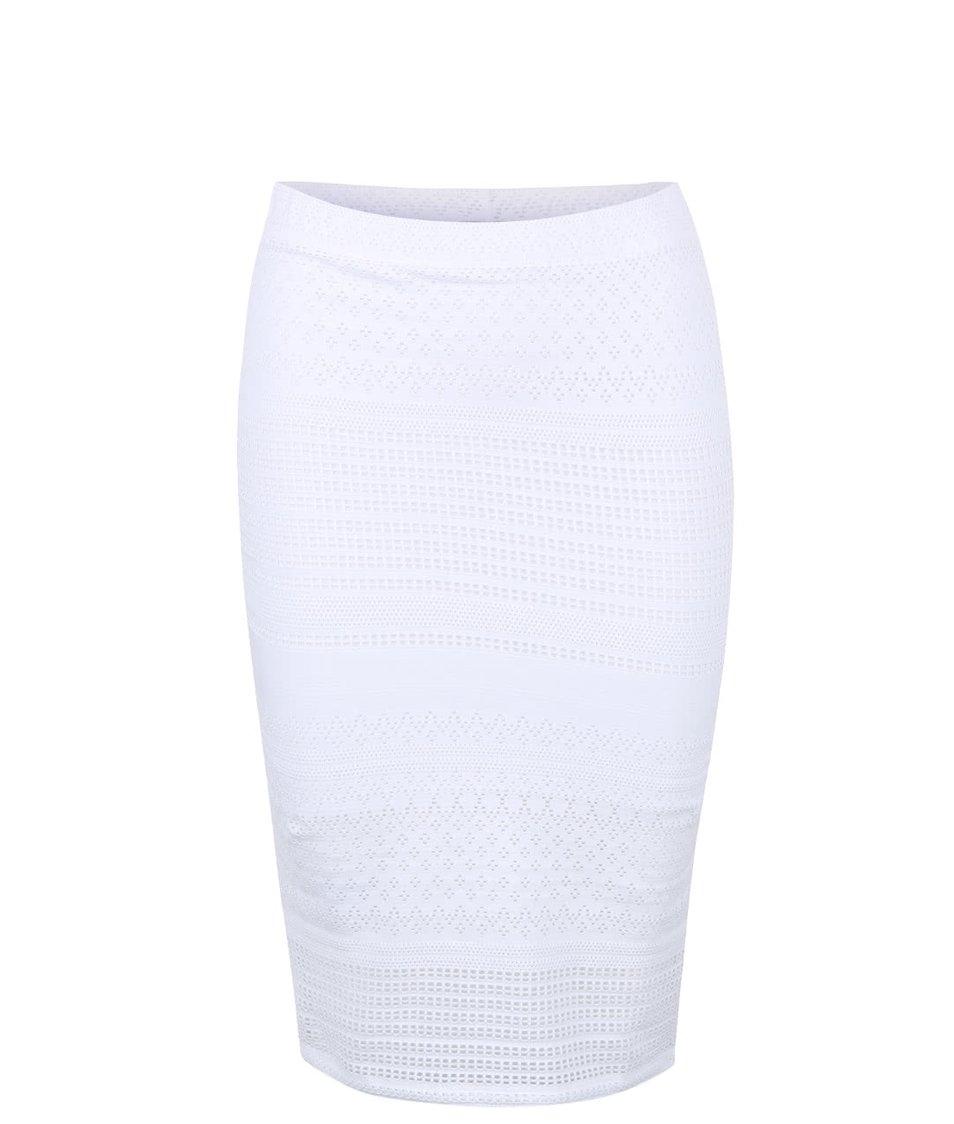 Bílá krajkovaná sukně Miss Selfridge