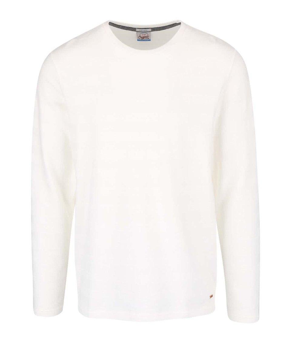 Krémové triko s dlouhým rukávem Jack & Jones Struck