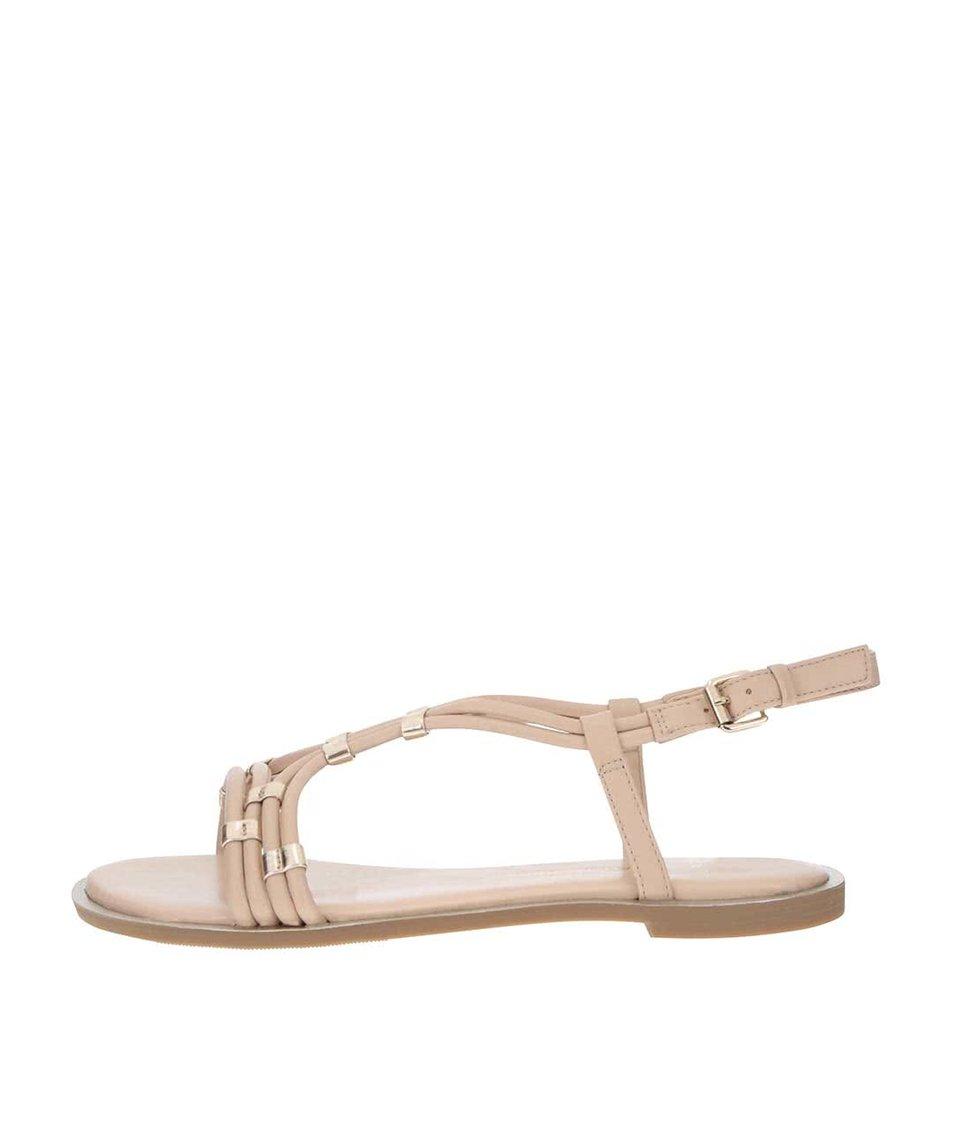 Krémové sandály s detaily ve zlaté barvě Dorothy Perkins