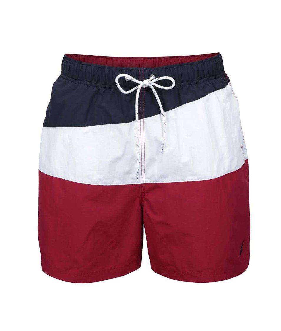 Modro-bílo-červené pánské plavky Nautica