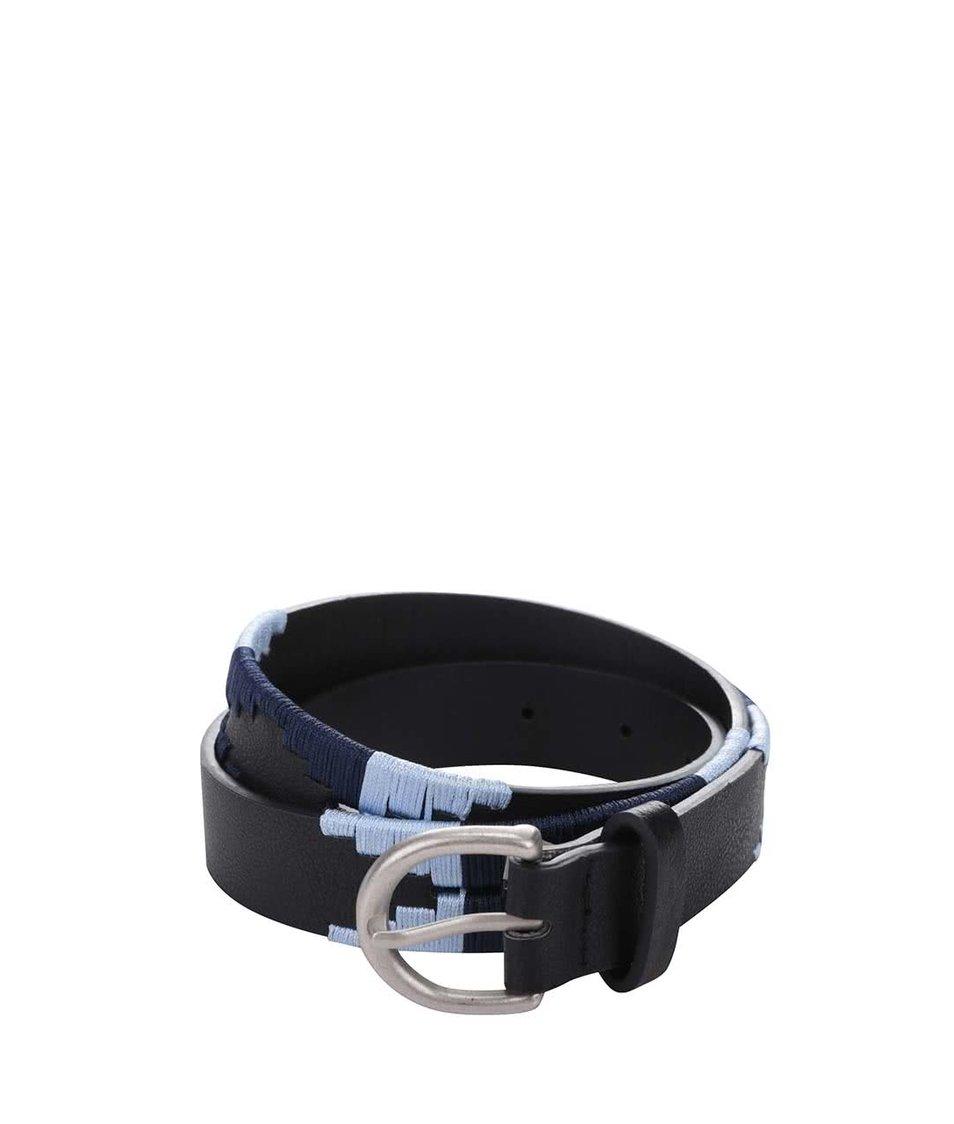 Černý pásek s modrým vzorem Pieces Beta