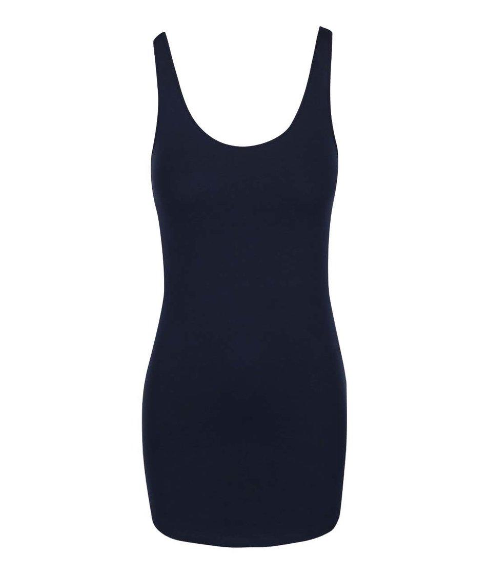 Tmavě modré tílko Vero Moda Maxi My
