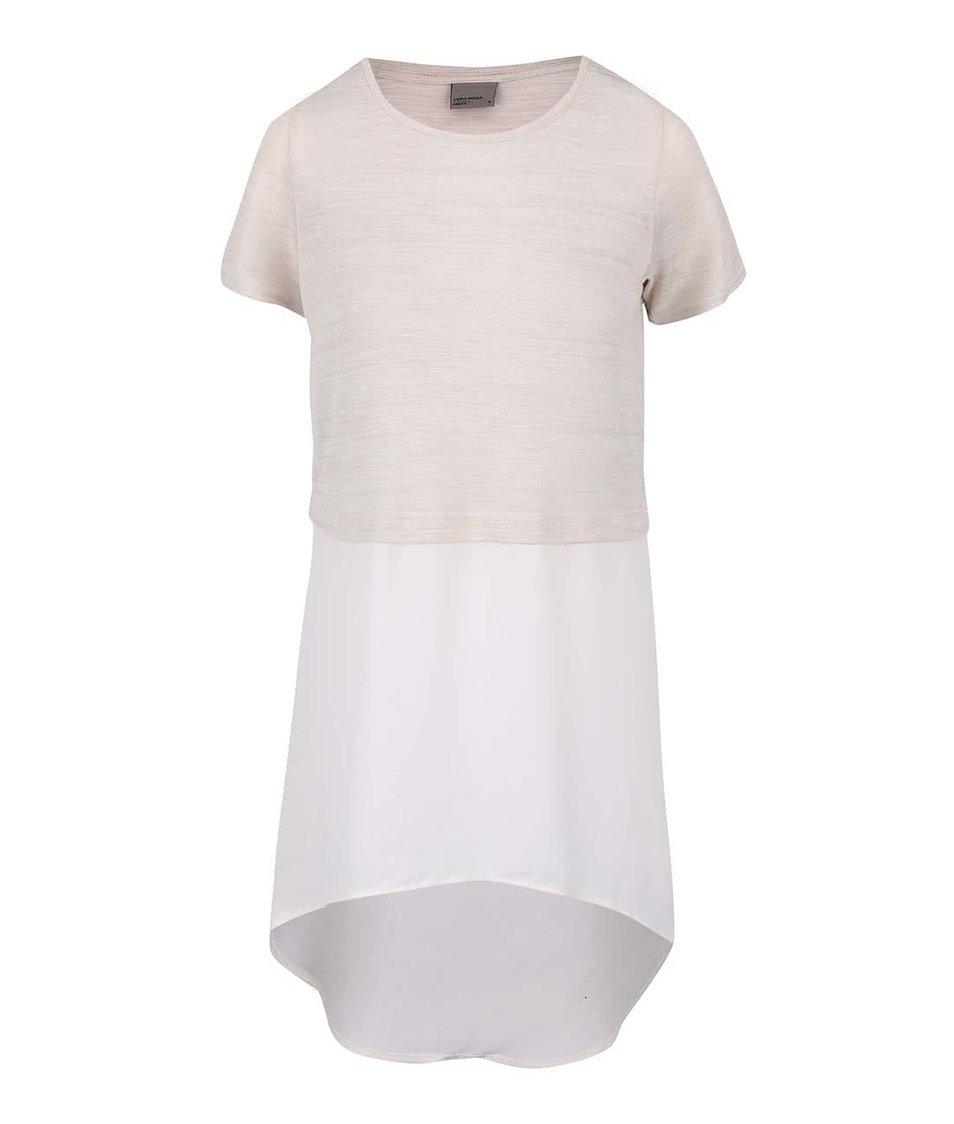Krémovo-béžové dlouhé tričko Vero Moda Juca