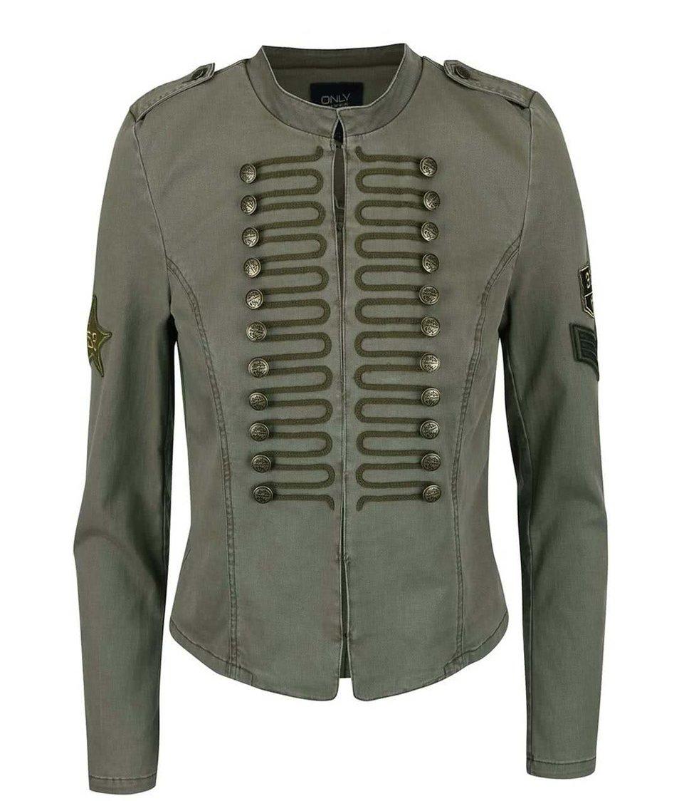 Khaki bunda s ozdobnými knoflíky ONLY Arizona