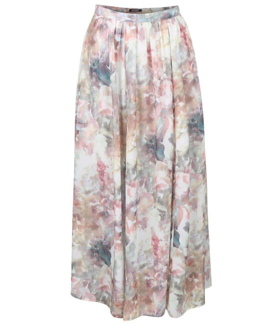 a571ac8a576 Krémová maxi sukně s květinami Haily´s Amy - SLEVA!