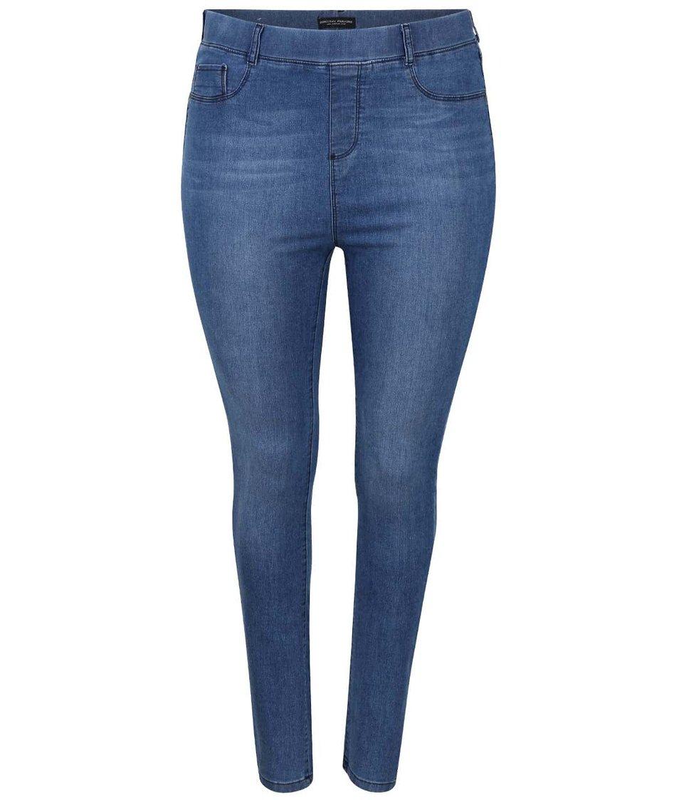 Modré džíny s elastickým pasem Dorothy Perkins Curve