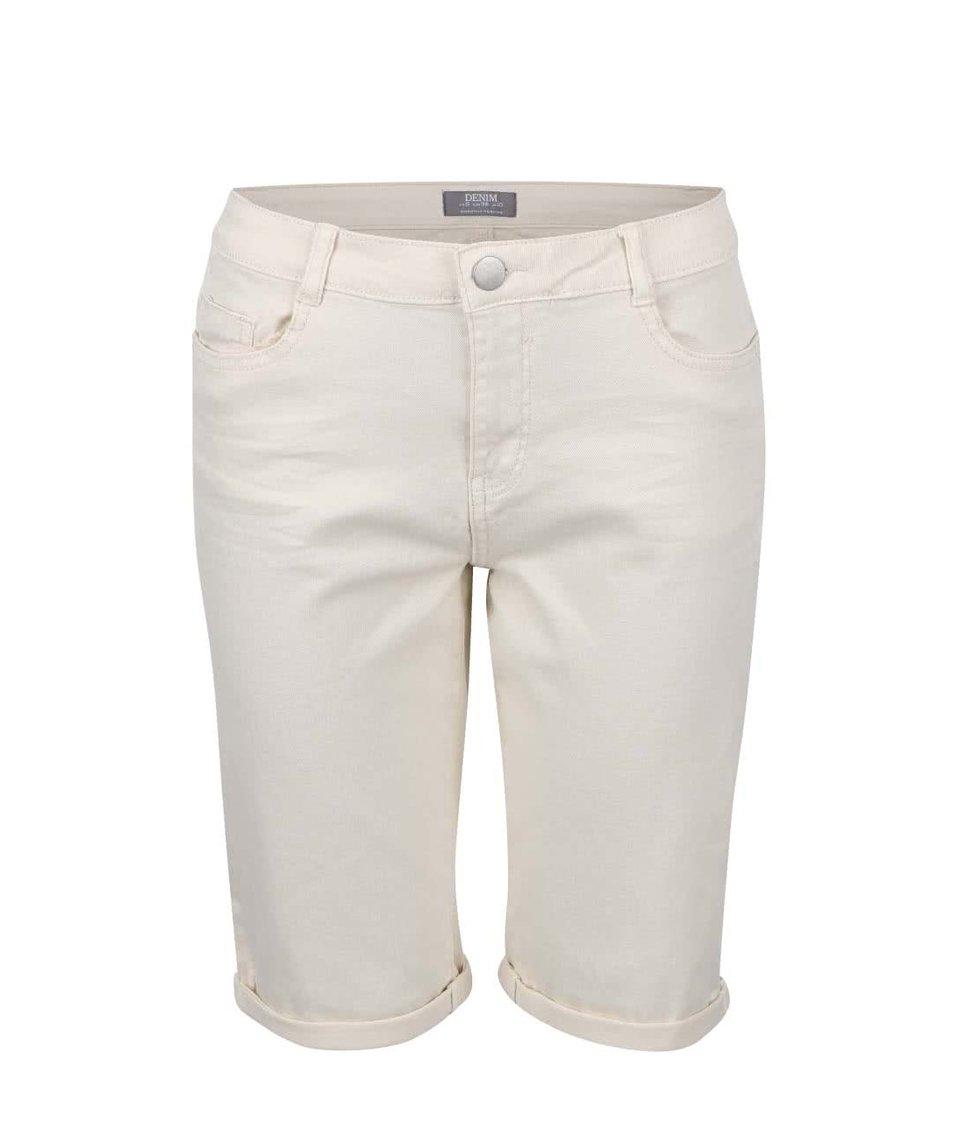 Krémové šortky nad kolena Dorothy Perkins