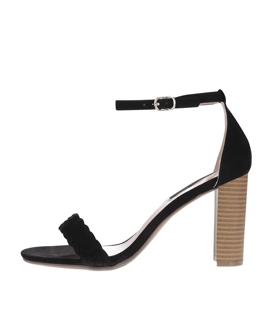 Černé sandály na vysokém podpatku Dorothy Perkins