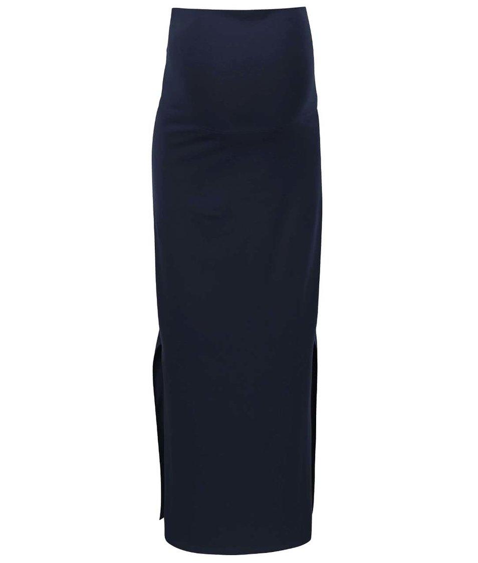 Tmavě modrá těhotenská maxi sukně Mama.licious Lea
