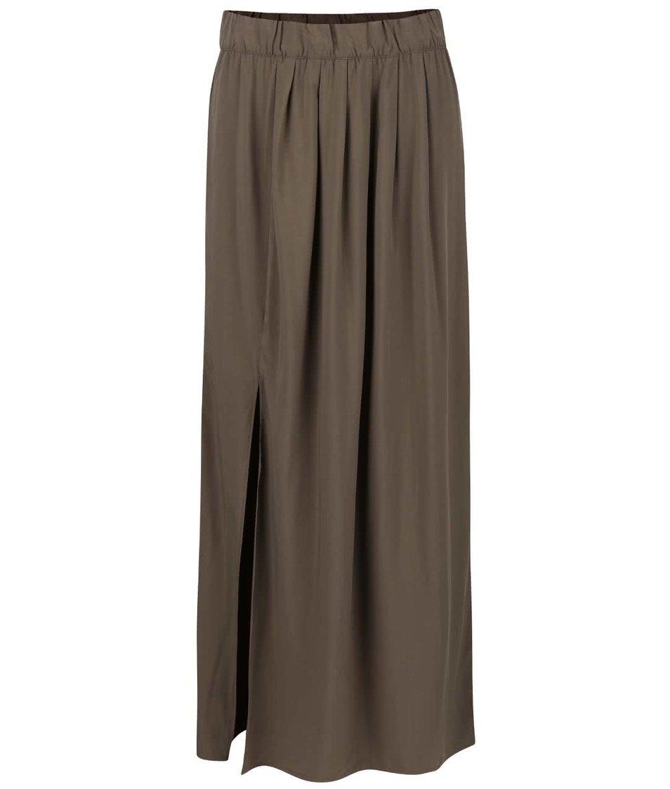 Khaki maxi sukně ONLY Nova Maxi