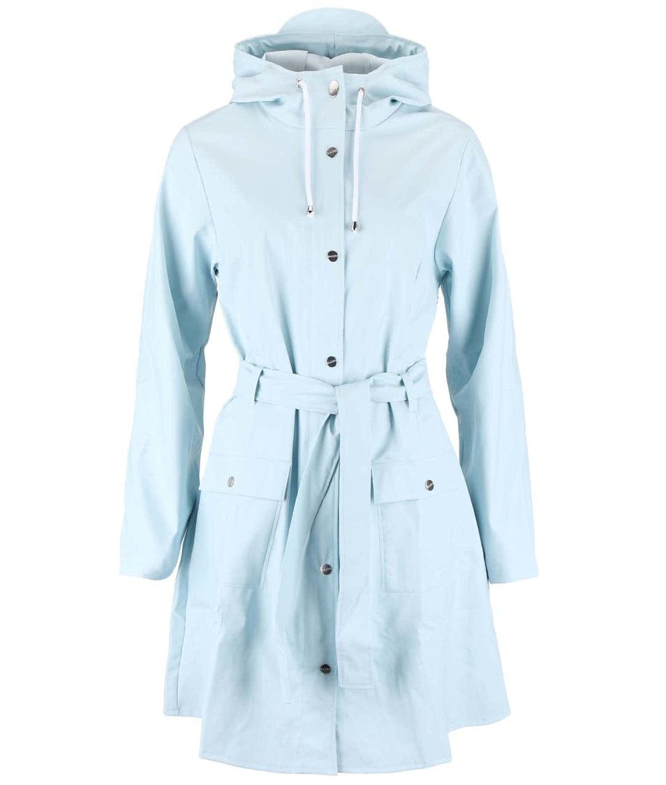 Světle modrý dámský nepromokavý kabát RAINS