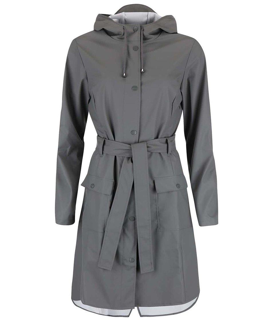 Šedý dámský nepromokavý kabát RAINS