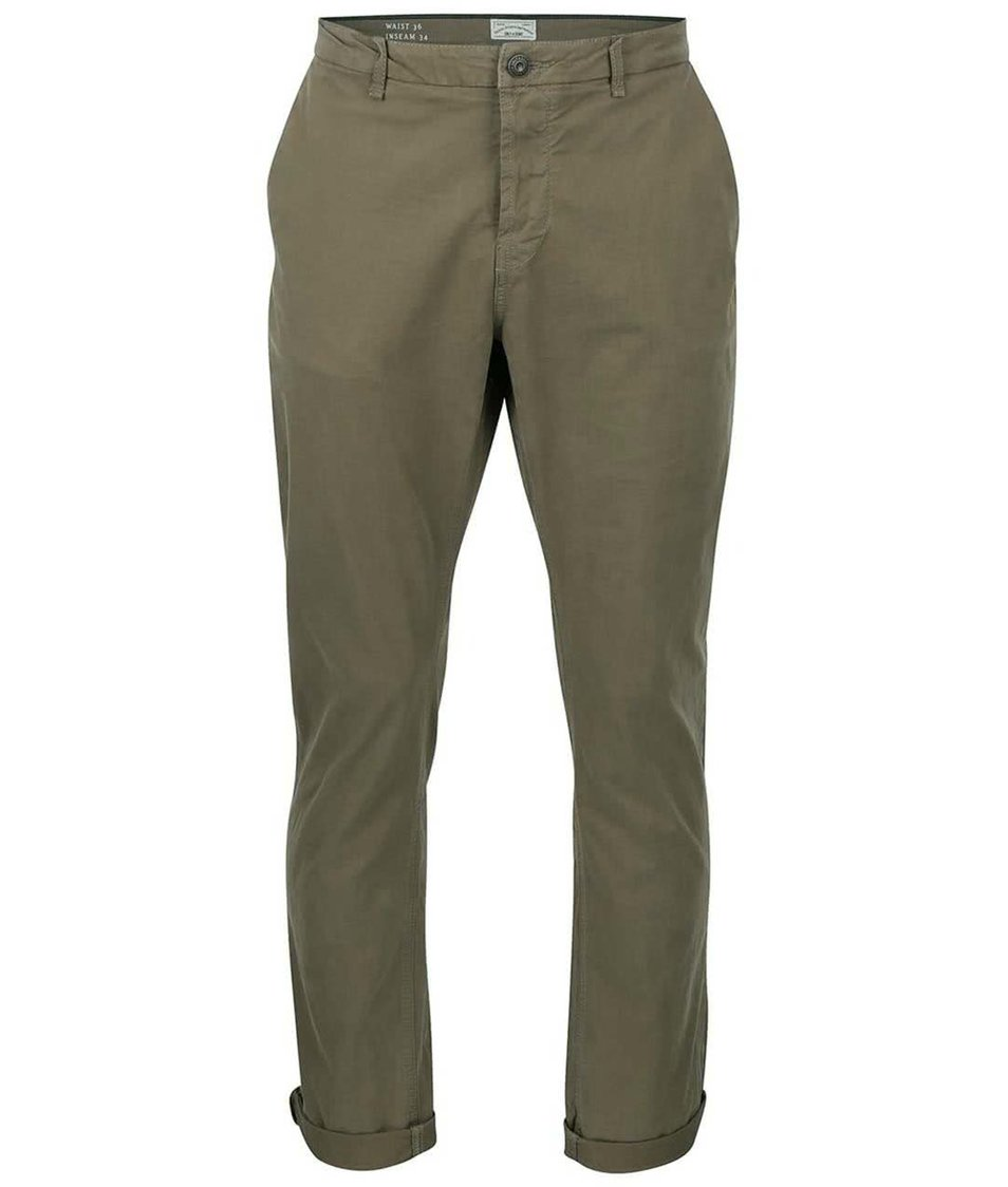 Khaki regular kalhoty ONLY & SONS Sharp