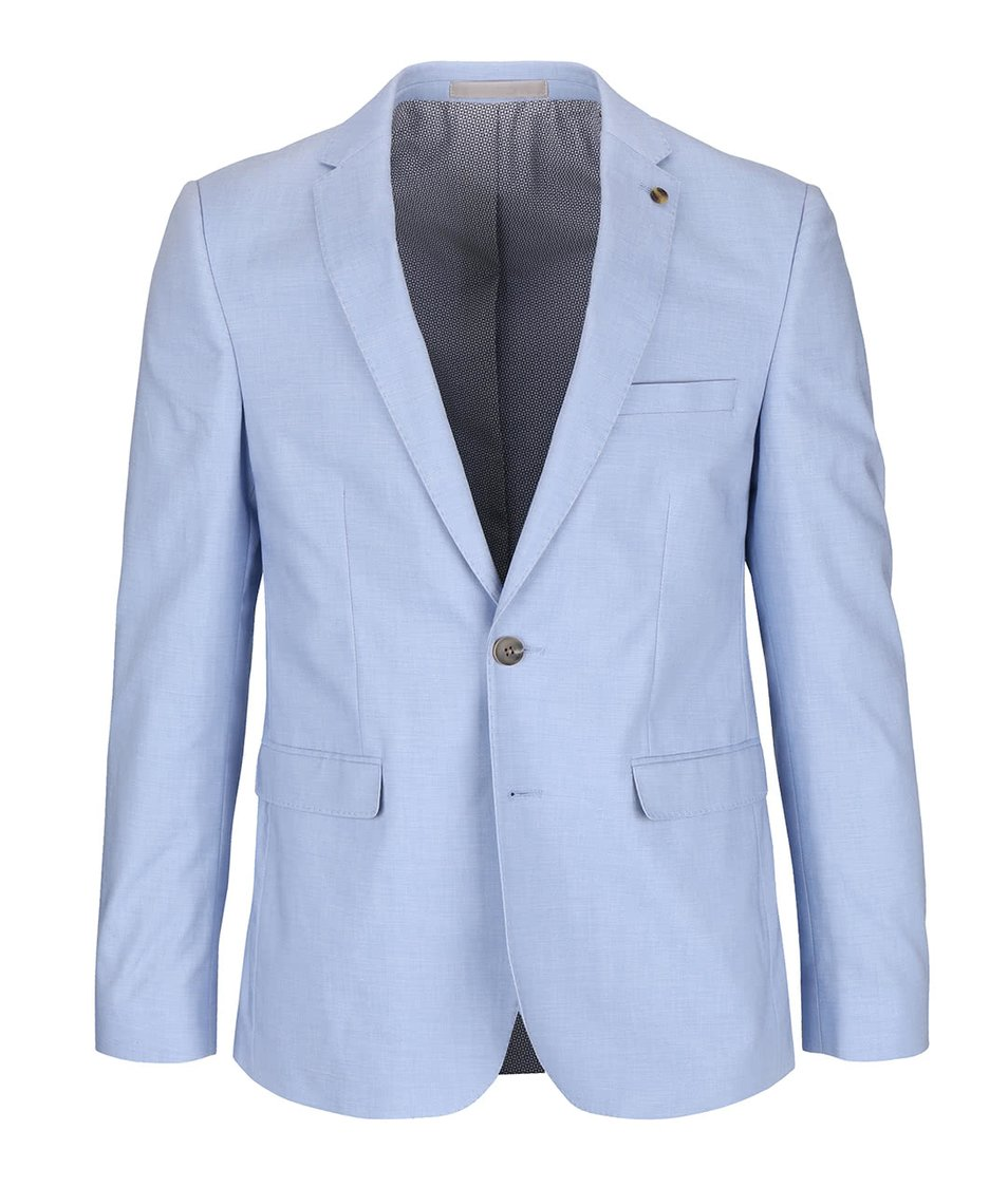 Světle modré slim fit sako Burton Menswear London
