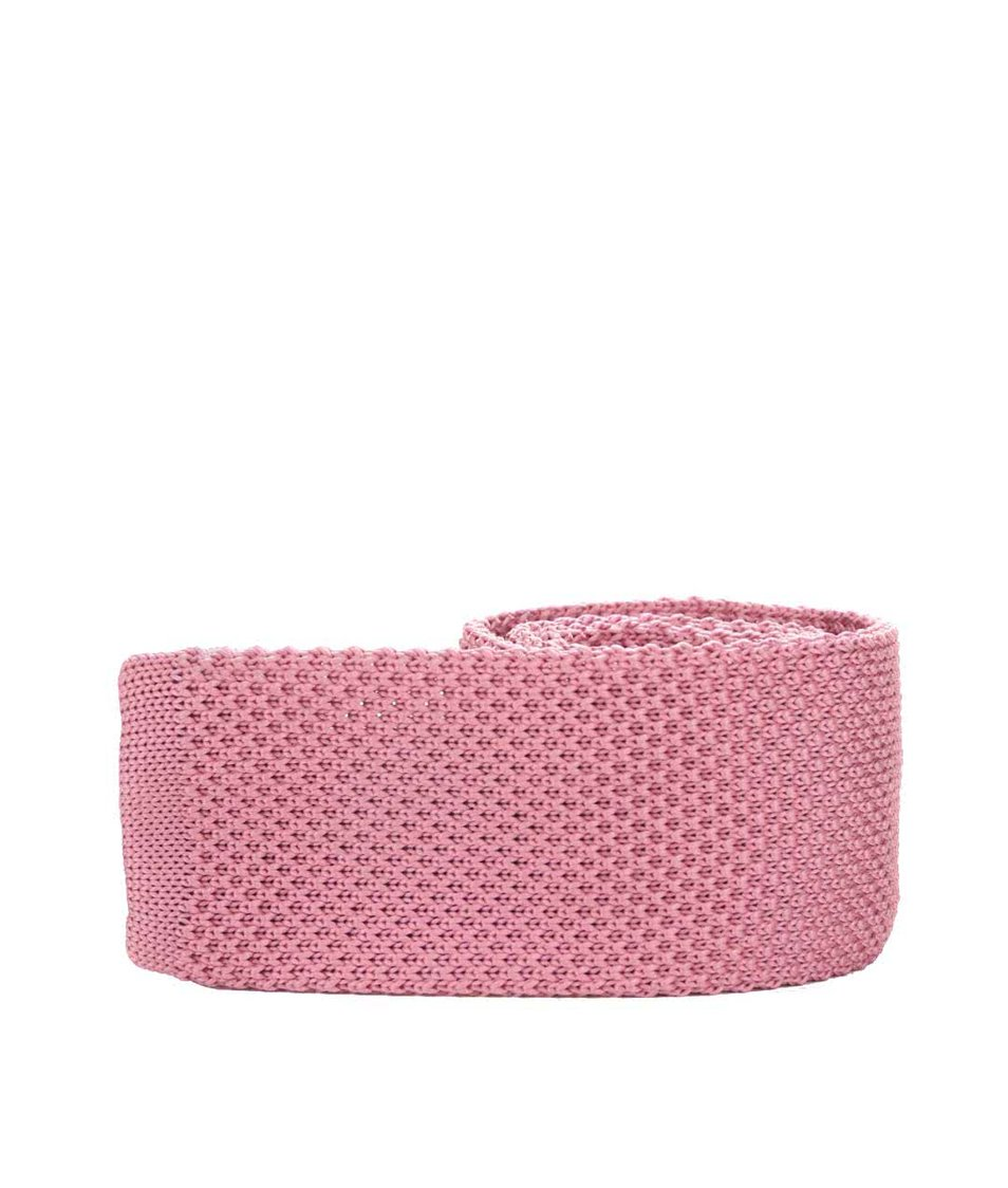 Růžová  pletená kravata Burton Menswear London