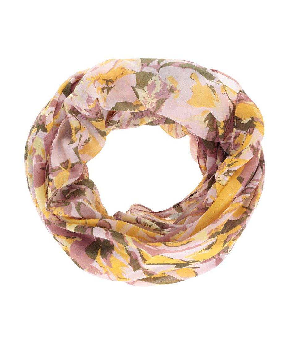 Barevný vzorovaný dutý šátek Pieces Bodil