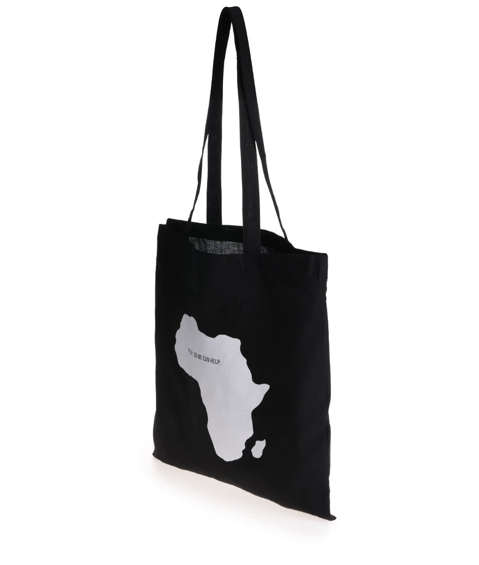 """""""Dobrá"""" černá unisex taška pomáhá Tanzánii"""