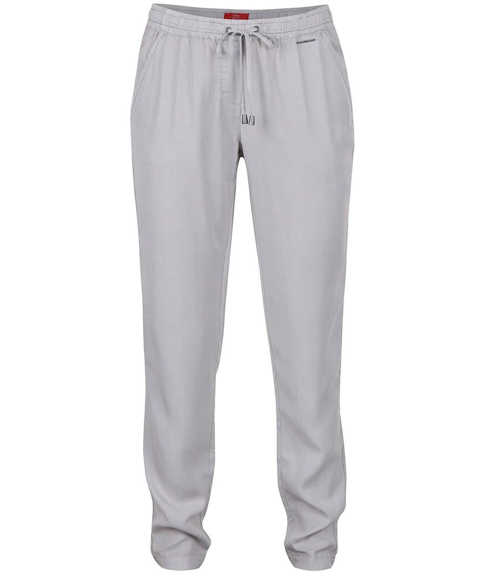 Světle šedé dámské kalhoty s.Oliver