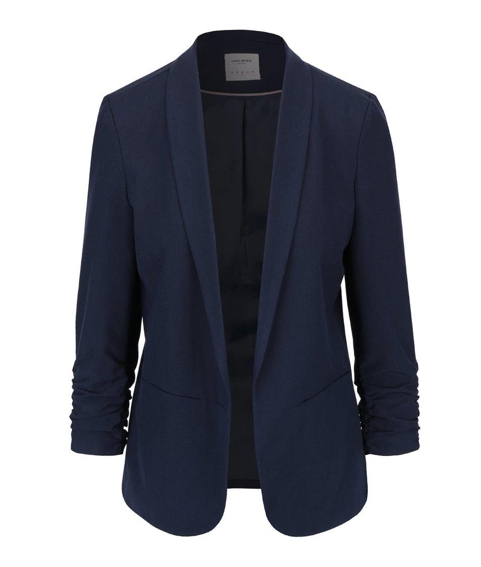 Tmavě modrý blejzr s nařasenými rukávy Vero Moda Dana