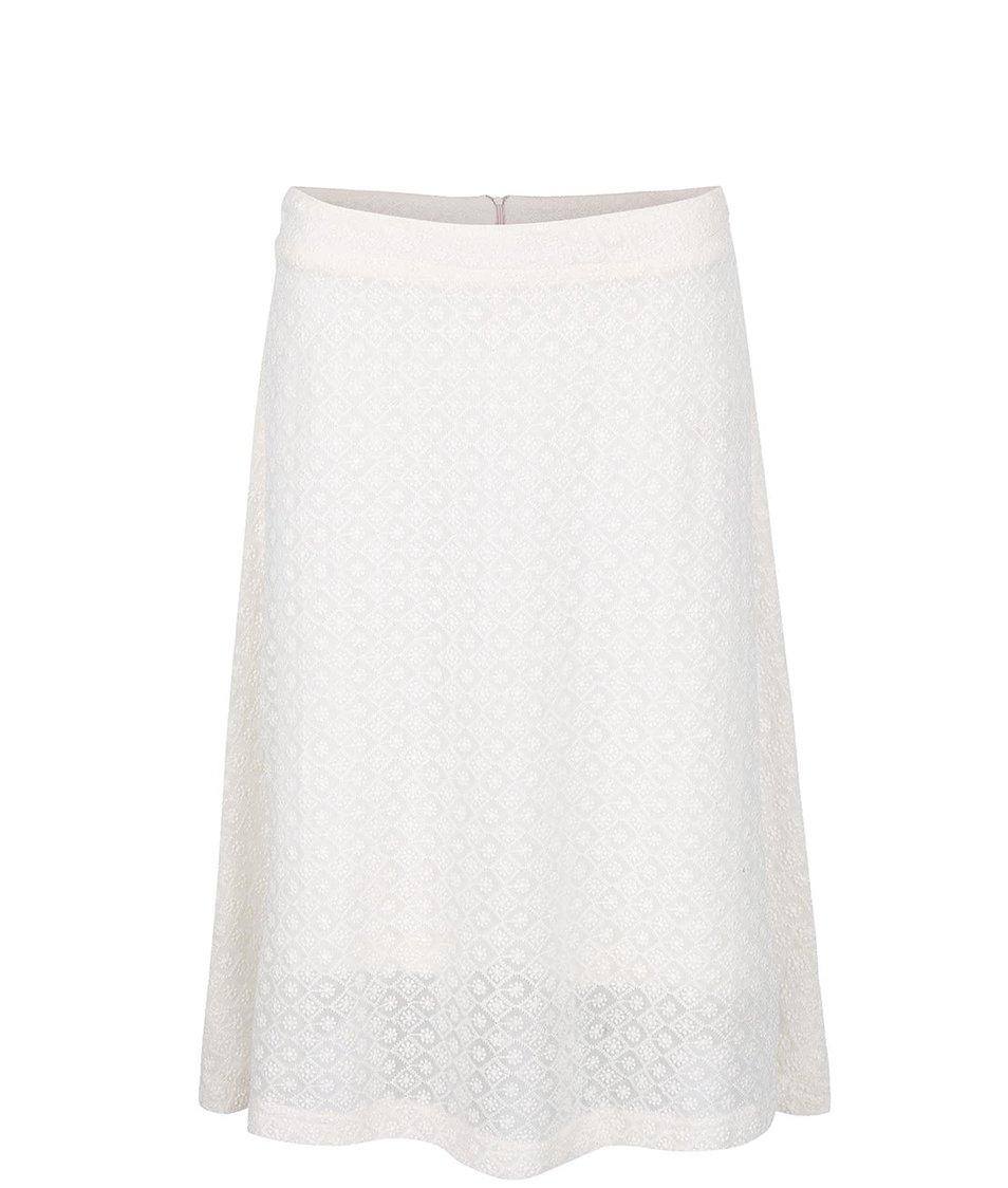 Krémová vzorovaná midi sukně  Smashed Lemon